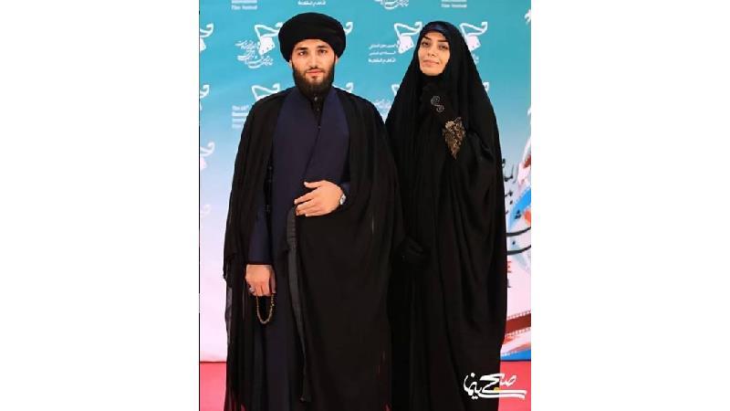 عکس و متن عاشقانه الهام چرخنده برای همسر روحانیاش