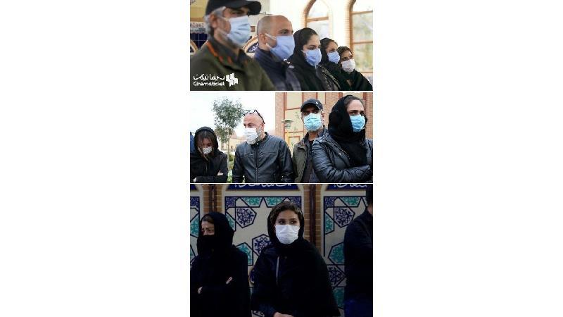 حضور دلگرم کننده سحر دولتشاهی درکنار همایون شجریان در مراسم خاکسپاری استاد شجریان