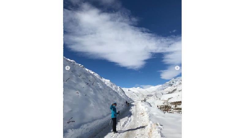 عکس های زمستانی گلاره عباسی