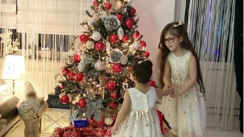 عکسهای کریسمس لاکچری دختران شاهرخ استخری