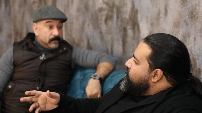 عکسهای علی انصاریان در پشت صحنه هم رفیق