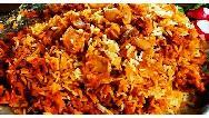 طرز تهیه لوبیا پلو با قارچ و مرغ بسیار خوشمزه و مجلسی با دستور پخت رستورانی