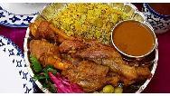 طرز تهیه باقالی پلو با گوشت  مجلسی و خوشمزه برای 20 نفر