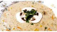 طرز تهیه سوپ شیر ، خامه و قارچ