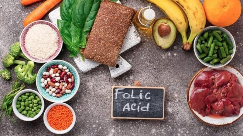 فولیک اسید در منواد غذایی