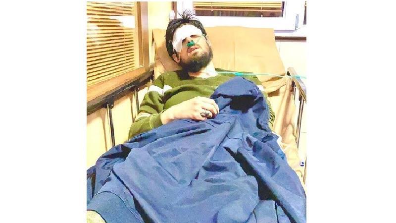 حامد زمانی در بیمارستان