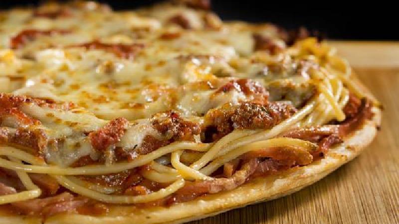 پیتزا ماکارونی بدون فر