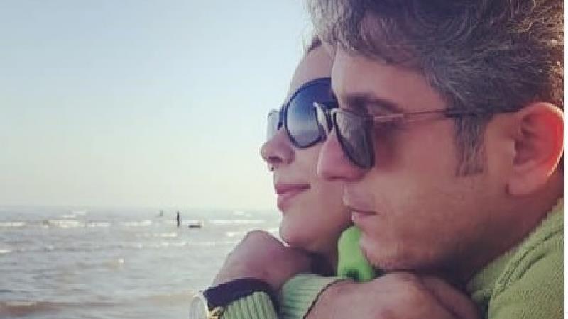 مونا غمخوار و همسرش